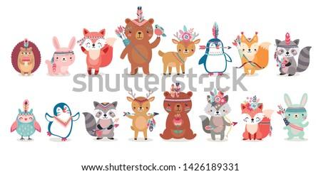 woodland boho characters