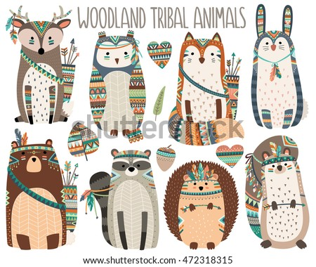 woodland tribal animals volume