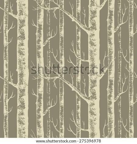 Woods seamless pattern