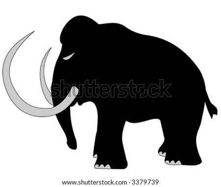 woolly mammoth silhouette