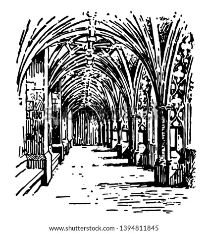 Worcester is an example of a cloister vogue in the mid to 18th century and specialize in domestic architectural vintage line drawing or engraving illustration.