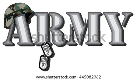 word army abstract vector