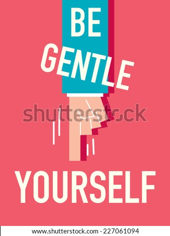 word be gentle vector