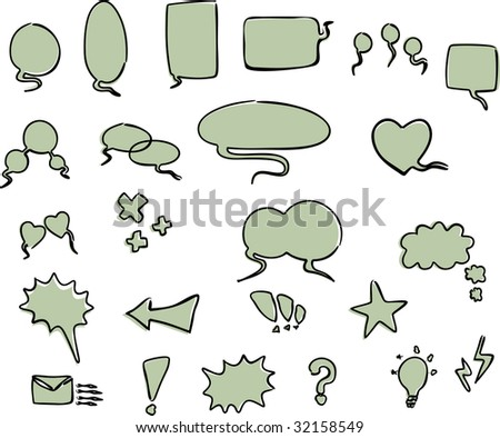 word bubbles of cartoon concept