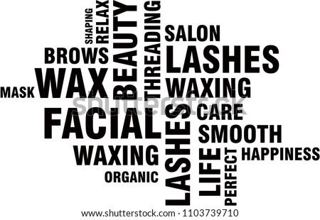 Word cloud beauty salon words