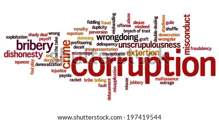 """corruption in 100 words German translation of """"corruption"""" 
