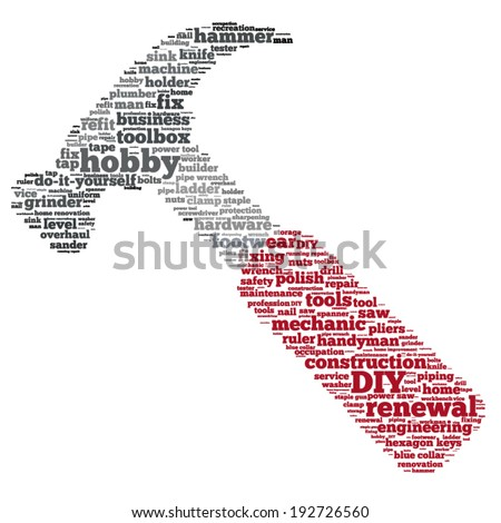 Word cloud containing words related to DIY and home renovation  do it  yourself  concept. Shutterstock Mobile  Royalty Free Subscription Stock Photography