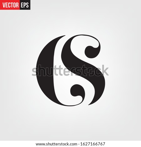 Word CS alphabet letters numbers Typography fonts regular uppercase and lowercase vector illustration Stock fotó ©