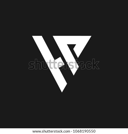 word hp logo design in letter