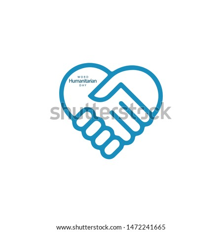 Word Humanitarian Day Vector Template. Design for Banner, Greeting Card or Print
