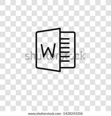 word icon from workspace support collection for mobile concept and web apps icon. Transparent outline, thin line word icon for website design and mobile, app development