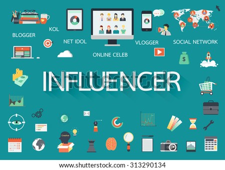 word influencer with involved
