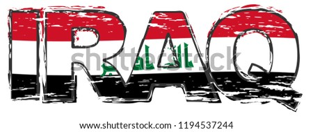 word iraq with iraqi national