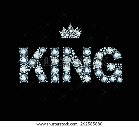 Word King Made Of Diamonds Stock Vector Illustration ...