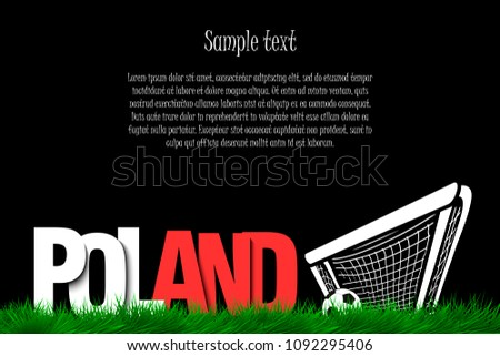 word poland and soccer ball in