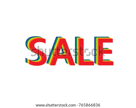 word sale made of five layers