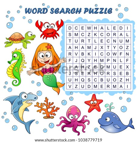 word search puzzle vector