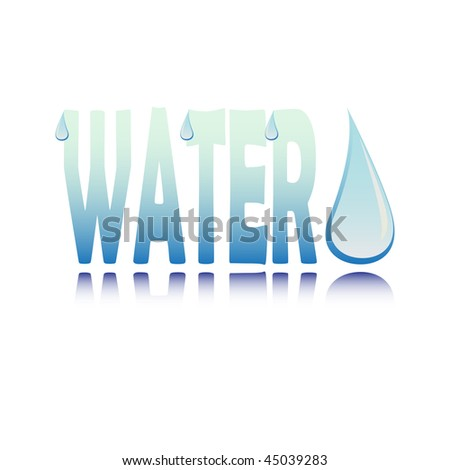 drop of water. Water with drop of water