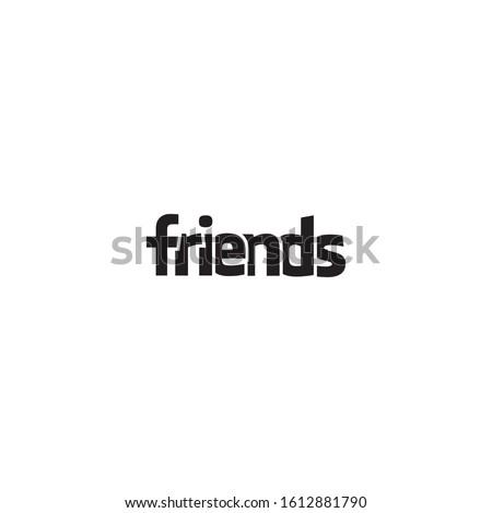 wordmark friends vector creative design