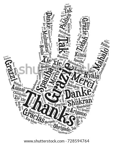 words cloud  concept of thanks