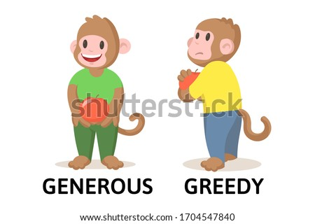 words generous and greedy
