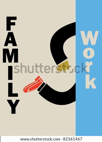 work - stock vector