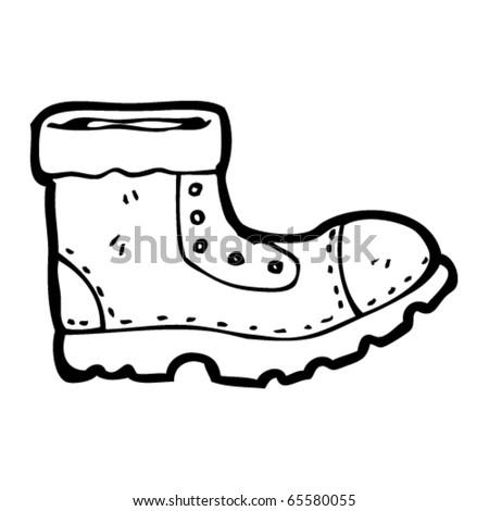 cowboy boots cartoon. vector : work oot cartoon
