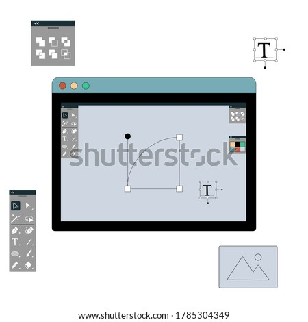 Work design concept. Vector illustration isolated on white background.