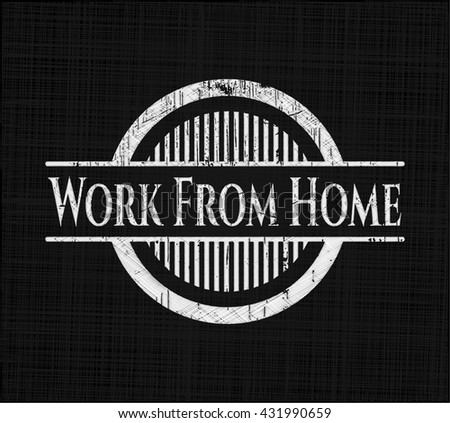 Work From Home chalkboard emblem