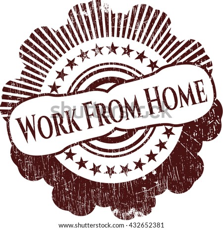 Work From Home rubber stamp