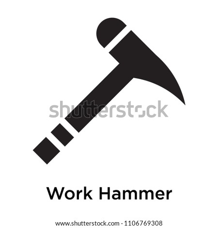 Work Hammer icon vector isolated on white background for your web and mobile app design, Work Hammer logo concept