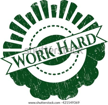Work Hard rubber texture