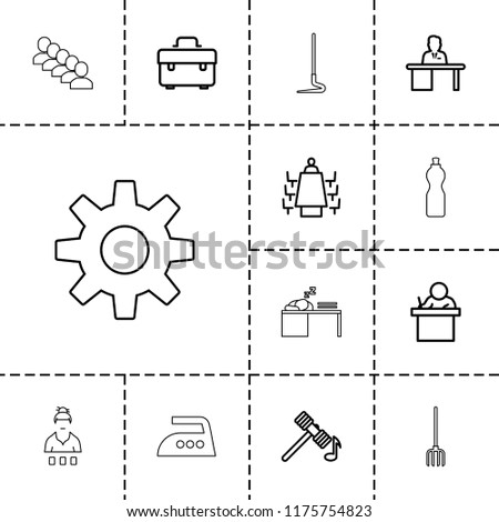 work icon collection of 13