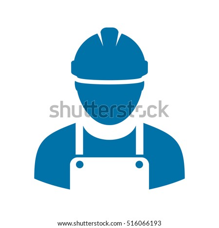 Work man icon vector illustration isolated on white background. Work man icon eps. Workman avatar illustration. Worker vector pictogram. Builder icon clip art.