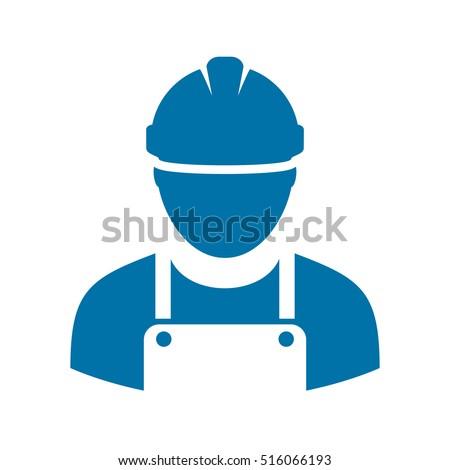Work man icon vector illustration isolated on white background. Work man icon eps. Workman avatar illustration. Worker vector pictogram. Builder icon clip art.