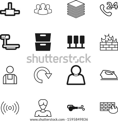 work vector icon set such as: set, electricity, domestic, job, clothing, corporate, day, circular, mobile, blue, socket, media, antenna, education, logistic, admin, cloth, refresh, engineering