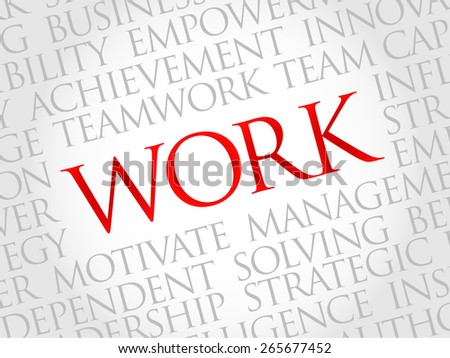 work word cloud business concept ez canvas
