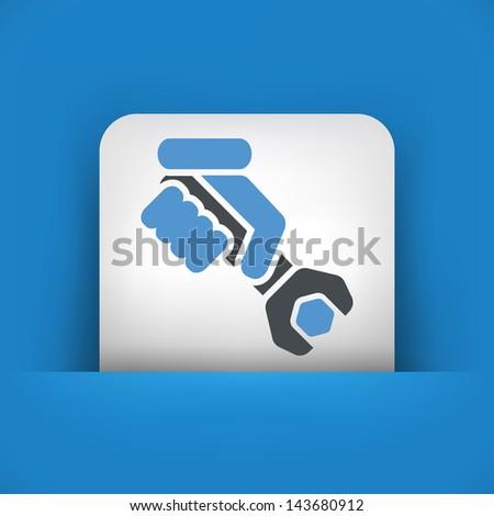 Worker concept symbol icon - stock vector