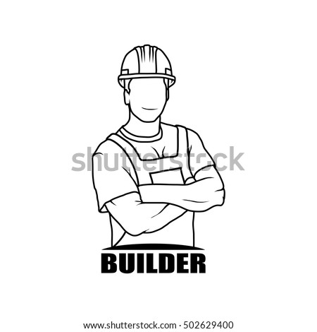 stock-vector-worker-drawing-vector-logo-icon-clipart-png-wallpaper-silhouette
