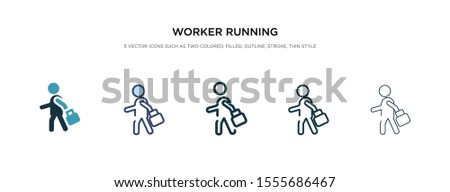 worker running icon in