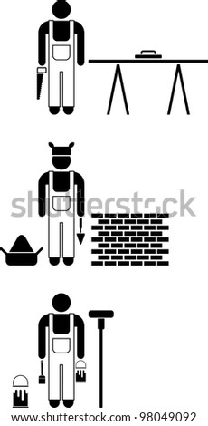 Workers pictograms