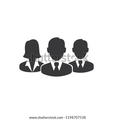 Workers team icon logo Stock photo ©