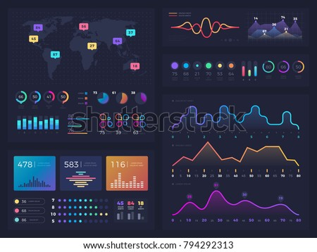 Workflow charts and diagrams, infographic useful vector elements for business information marketing presentation. Chart and diagram information for presentation illustration