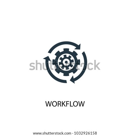 Workflow icon. Simple element illustration. Workflow symbol design from Startup collection. Can be used for web and mobile.