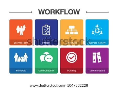 Workflow Infographic Icon Set
