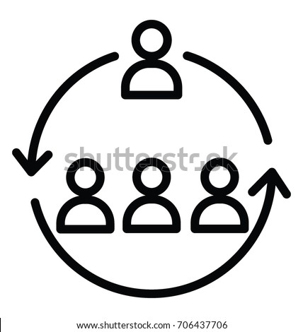 Workforce Organization Vector Icon