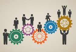 workforce, team working, business people in motion, motivation for success.