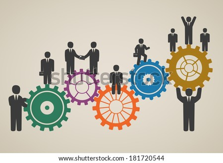 workforce team working business people in motion motivation for success