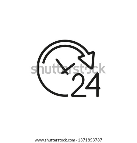Working all day line icon. Office work, every day, hurry up. Time concept. Vector illustration can be used for topics like time management, work life, daily routine Photo stock ©