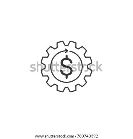 Working capital thin line vector icon money idea